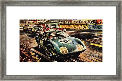 The Revolutionary Rover Brm At The Famous Le Mans Racing Track In 1963 Framed Print by Wilf Hardy