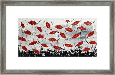 The Rhythm Of The Poppies Framed Print by Ilonka Walter