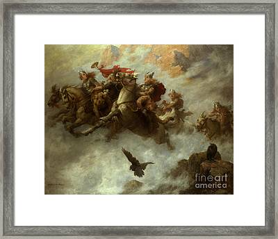 The Ride Of The Valkyries  Framed Print by William T Maud