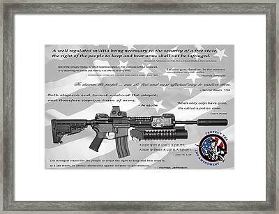 The Right To Bear Arms Framed Print by Daniel Hagerman