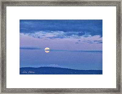 The Rising Framed Print by Sabine Stetson