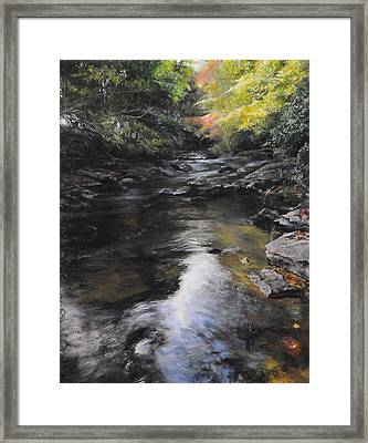 The River At Lady Bagots Framed Print by Harry Robertson