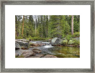 The River Flows Softly Framed Print by Thomas Todd
