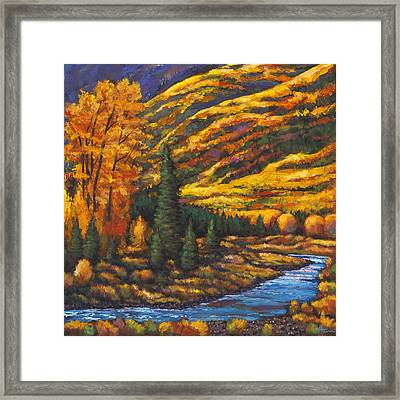 The River Runs Framed Print by Johnathan Harris