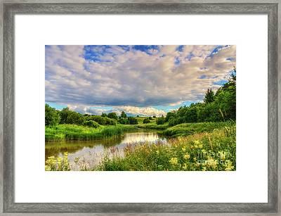 The River Valley Framed Print by Veikko Suikkanen