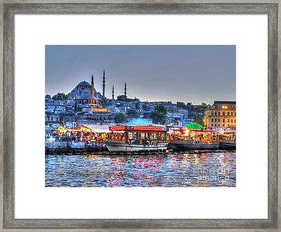 The Riverboats Of Istanbul Framed Print by Michael Garyet
