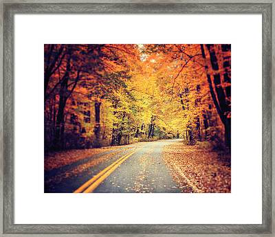 The Road Less Traveled Framed Print by Lisa Russo