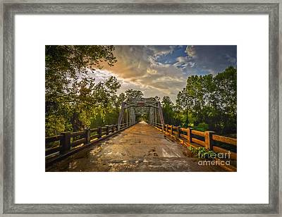 The Road Less Traveled Framed Print by T Lowry Wilson