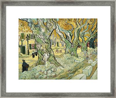 The Road Menders Framed Print by Vincent van Gogh