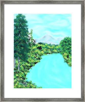 The Road To A Friends House Framed Print by Debra Lynch