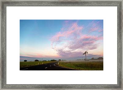 The Road To Morning Framed Print by Odille Esmonde-Morgan