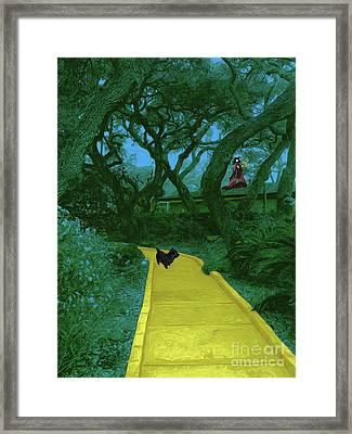 The Road To Oz Framed Print by Methune Hively