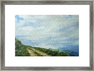 The Road To The Mountain Framed Print by Tigran Ghulyan
