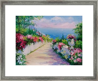 The Road To The Sea Framed Print by Olha Darchuk