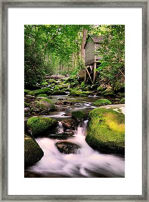 The Roaring Fork And Reagan's Mill Framed Print by Thomas Schoeller