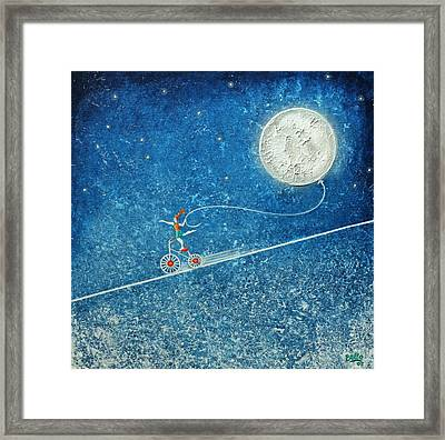 The Robbery Of The Moon Framed Print by Graciela Bello