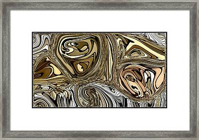 The Rock Garden Van Gogh Style Framed Print by Debra Lynch
