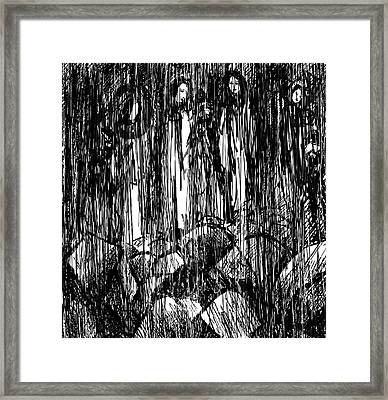 The Rocks And Stones Cry Out Framed Print by Rachel Christine Nowicki