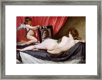 The Rokeby Venus Framed Print by Diego Rodriguez de Silva y Velazquez