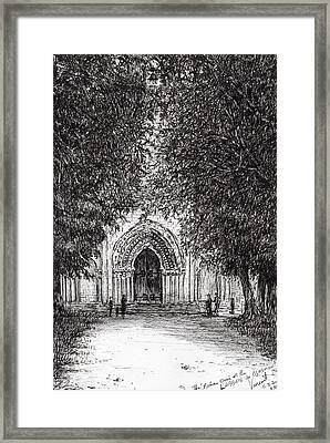 The Roman Door Framed Print by Vincent Alexander Booth