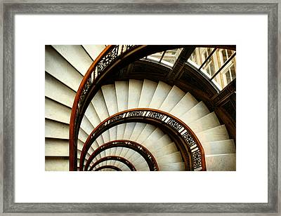 The Rookery Spiral Staircase Framed Print by Ely Arsha