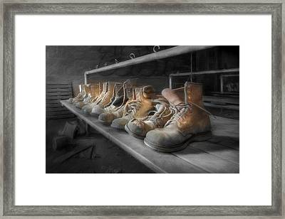 The Room Of Lost Soles Framed Print by Lori Deiter