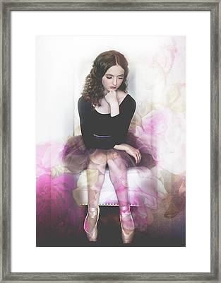 The Rose Ballerina Framed Print by Melissa Deanching