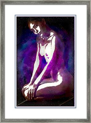 The Rose Of The Galaxy Framed Print by Mario Carini
