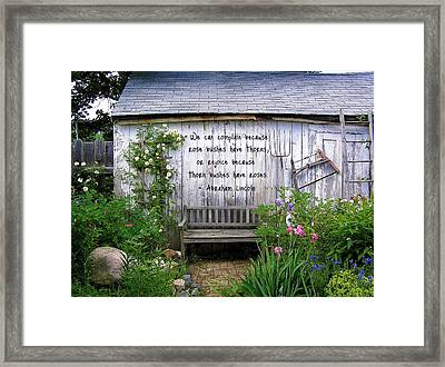 The Rose Or The Thorn Framed Print by Jen White