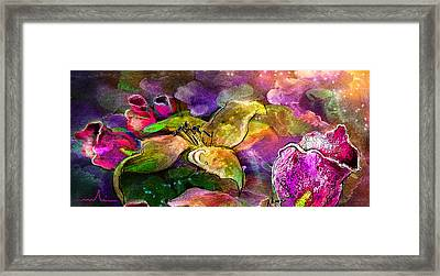 The Roses In The Sheep Dream Framed Print by Miki De Goodaboom