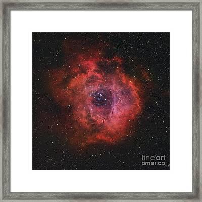The Rosette Nebula Framed Print by Rolf Geissinger
