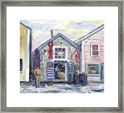 The Roy Moore Lobster Company Framed Print by Chris Coyne