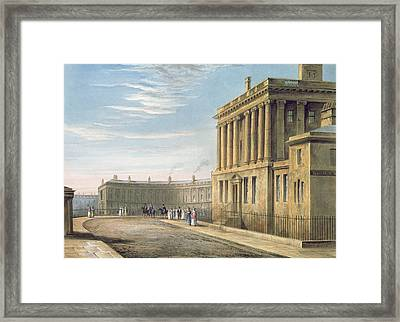 The Royal Crescent Framed Print by David Cox
