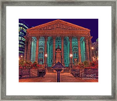 The Royal Exchange In The City London Framed Print by Chris Smith