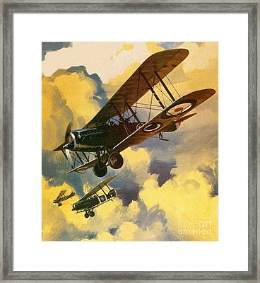 The Royal Flying Corps Framed Print by Wilf Hardy