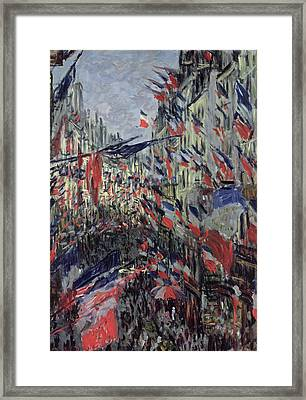 The Rue Saint Denis Framed Print by Claude Monet