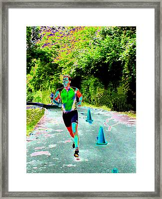 The Runner Framed Print by Peter  McIntosh