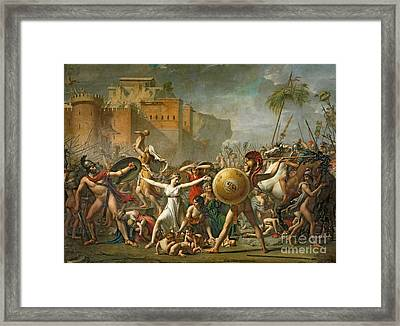 The Sabine Women Framed Print by Jacques Louis David