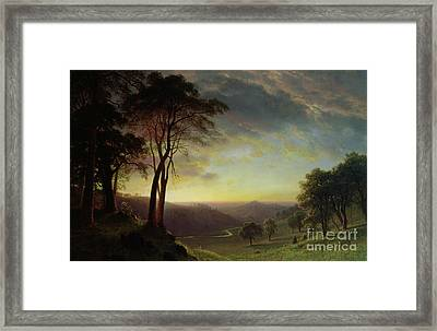 The Sacramento River Valley  Framed Print by Albert Bierstadt