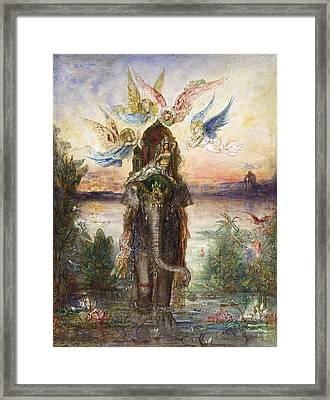 The Sacred Elephant  Framed Print by Gustave Moreau