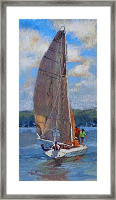The Sailing Lesson Framed Print by Donna Shortt