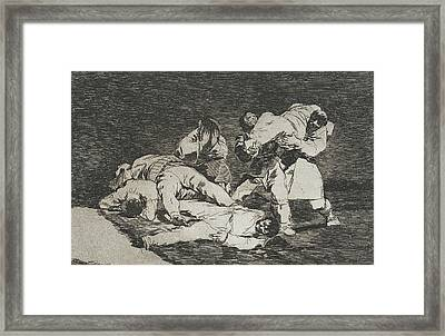 The Same From The Series Disasters Of War  Framed Print by Francisco Goya