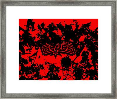 The San Antonio Spurs 1a Framed Print by Brian Reaves
