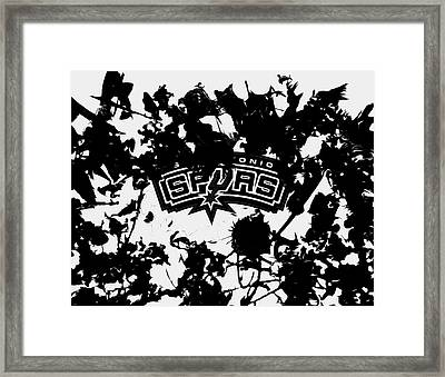 The San Antonio Spurs 1b Framed Print by Brian Reaves
