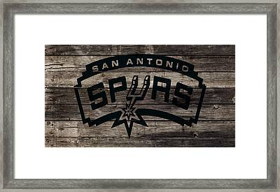 The San Antonio Spurs 1w Framed Print by Brian Reaves