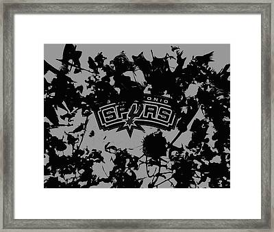 The San Antonio Spurs Framed Print by Brian Reaves