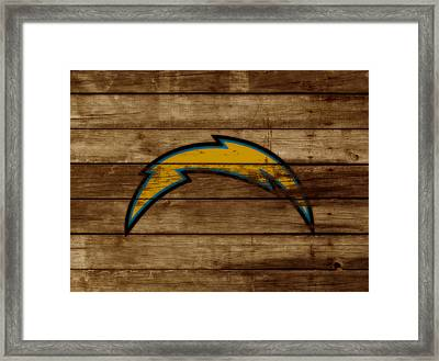 The San Diego Chargers 3a        Framed Print by Brian Reaves
