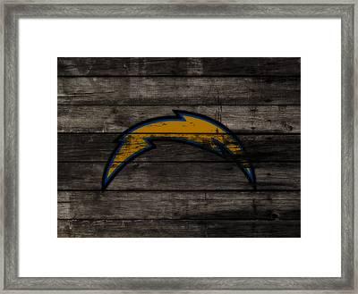 The San Diego Chargers 3c        Framed Print by Brian Reaves
