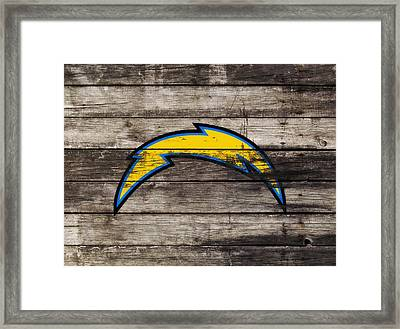 The San Diego Chargers 3j        Framed Print by Brian Reaves