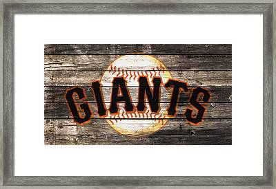 The San Francisco Giants W1 Framed Print by Brian Reaves
